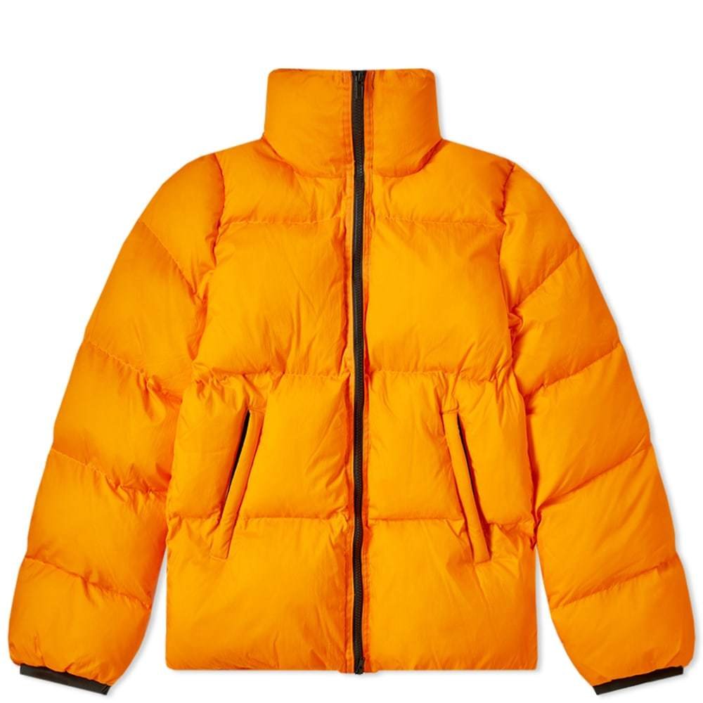 Photo: MKI Nylon Short Bubble Jacket Orange