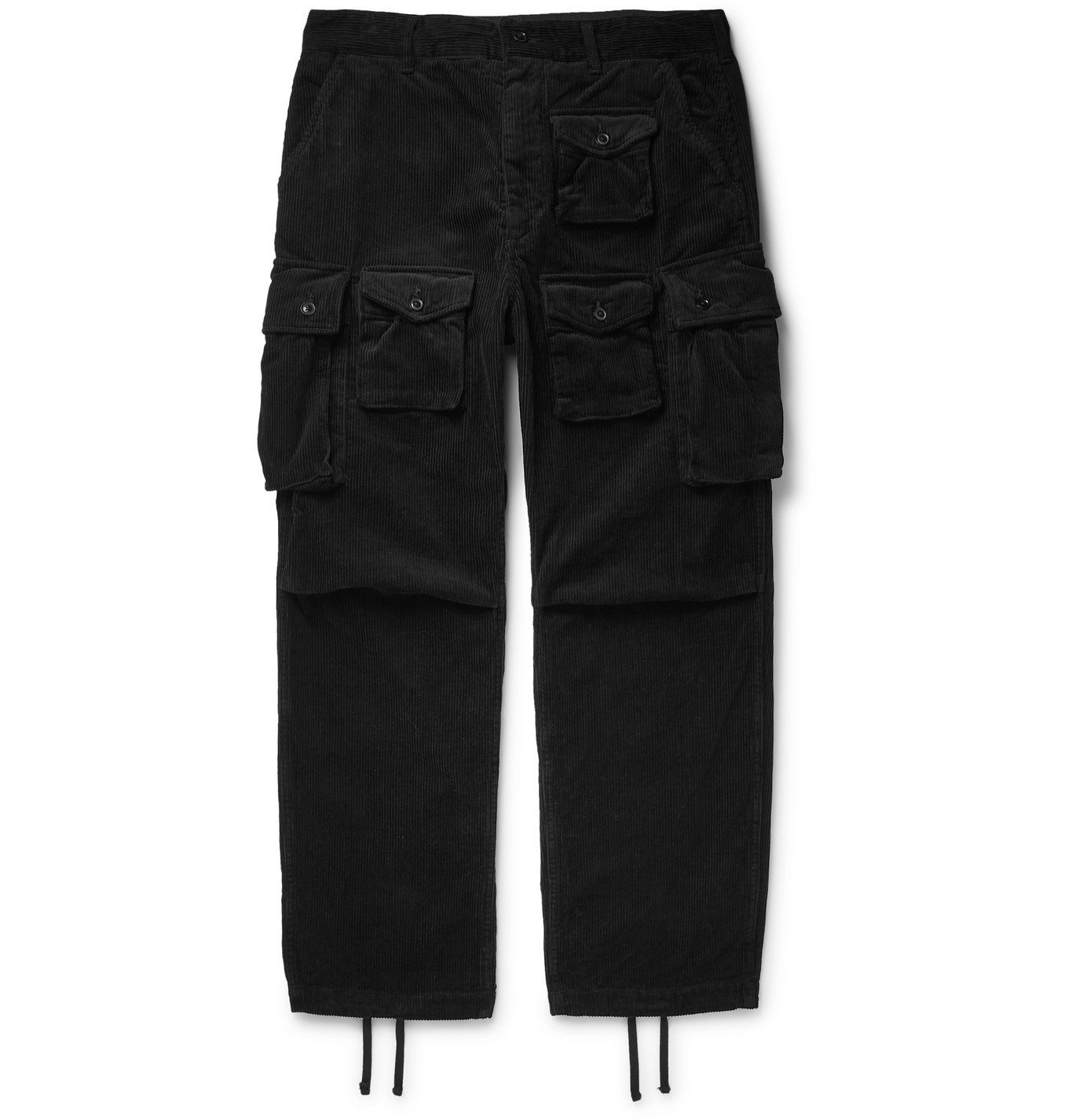 Photo: Engineered Garments - Cotton-Corduroy Cargo Trousers - Black