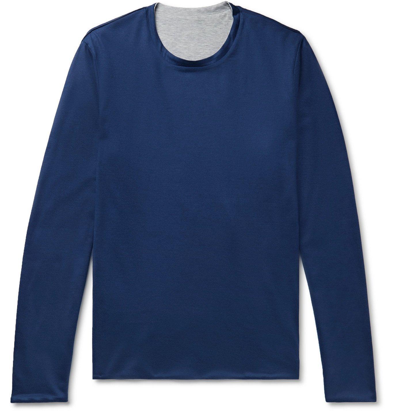 Photo: Sease - Reversible Cotton-Jersey Sweater - Blue