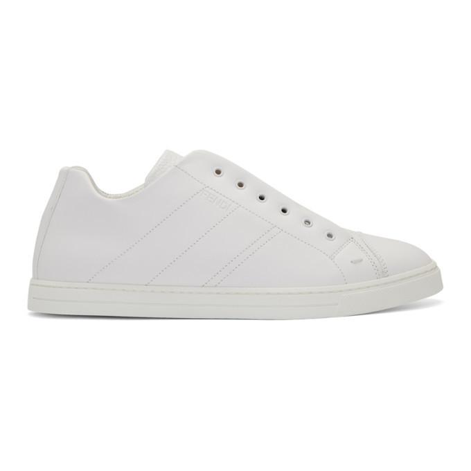 Photo: Fendi White Forever Fendi Reloaded Sneakers