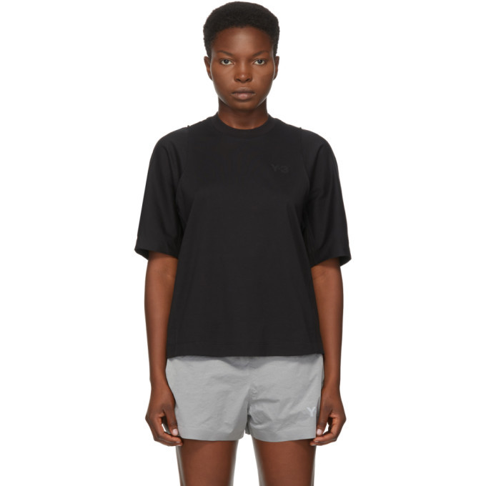 Photo: Y-3 Black Classic Tailored T-Shirt