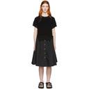 Sacai Black Knit Panel Dress
