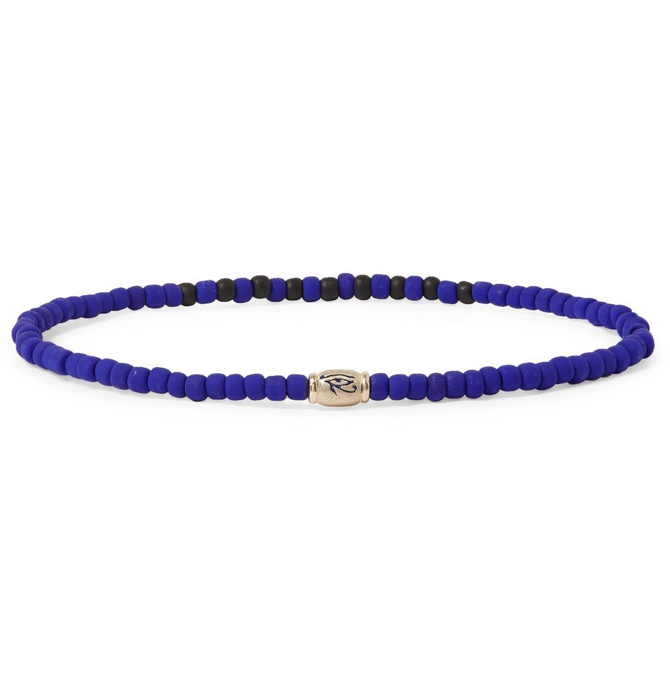Photo: Luis Morais - Bead and Gold Bracelet - Blue