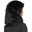 Sacai Black Faux-Fur Hood