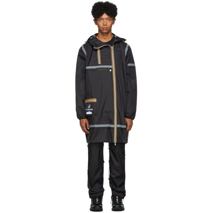 Photo: Afterhomework Black K-Way Edition Eiffel Multi Pocket Raincoat