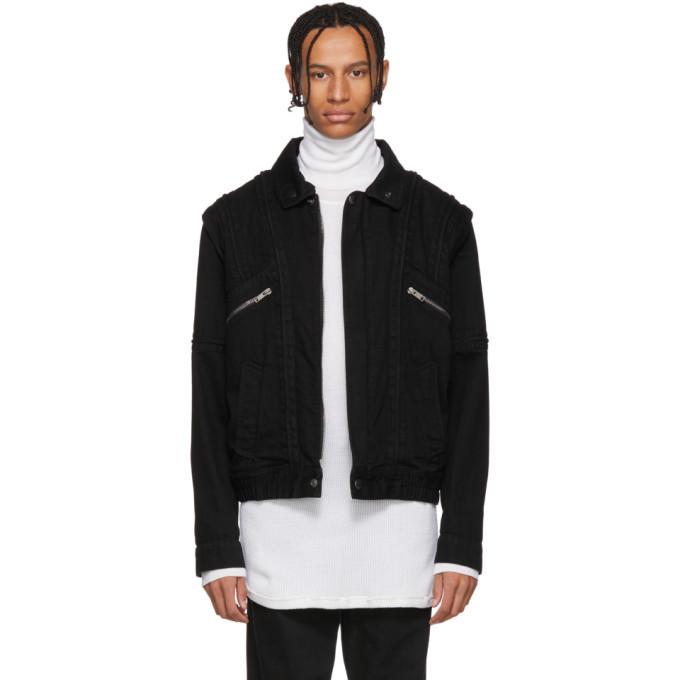Photo: Givenchy Black Denim and Shearling Biker Jacket