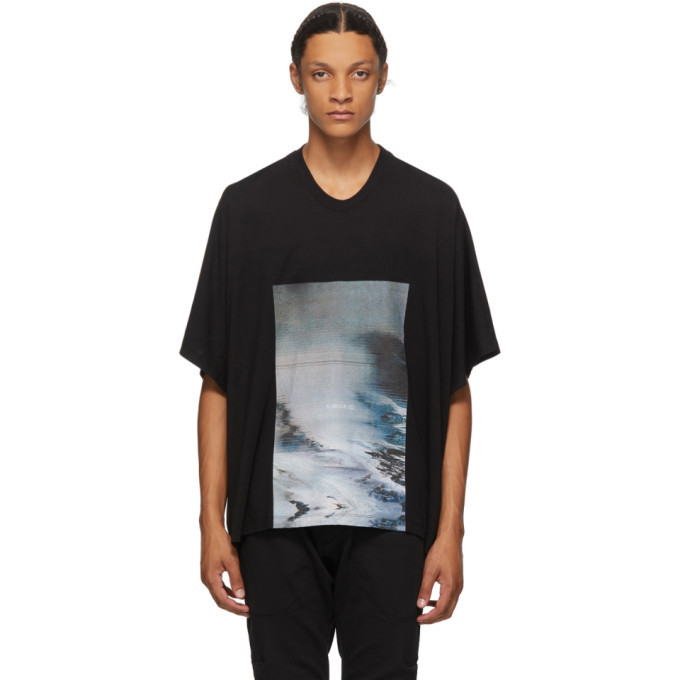 Photo: Julius Black Cropped Avalanche T-Shirt