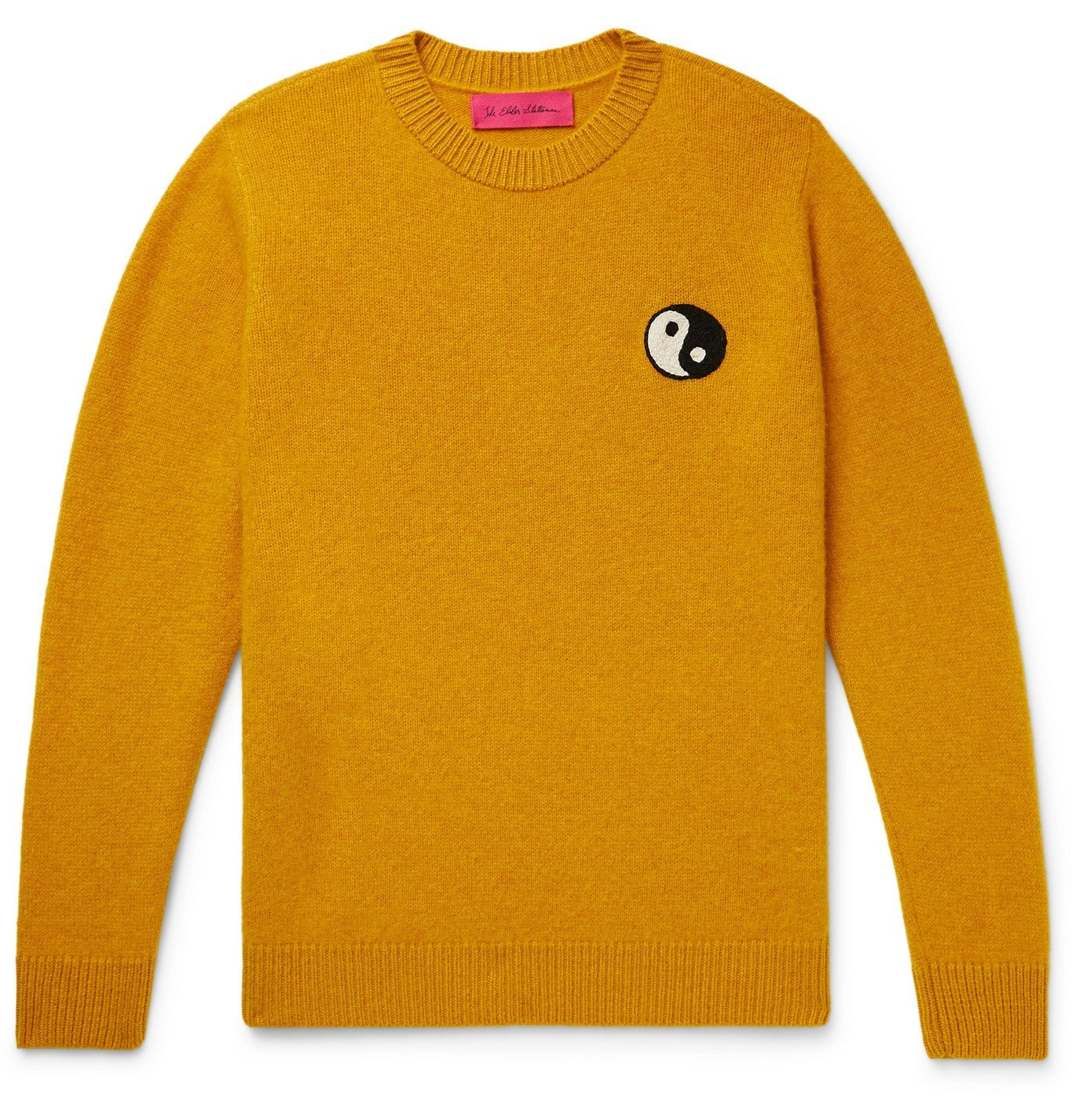 Photo: THE ELDER STATESMAN - Embroidered Cashmere Sweater - Yellow