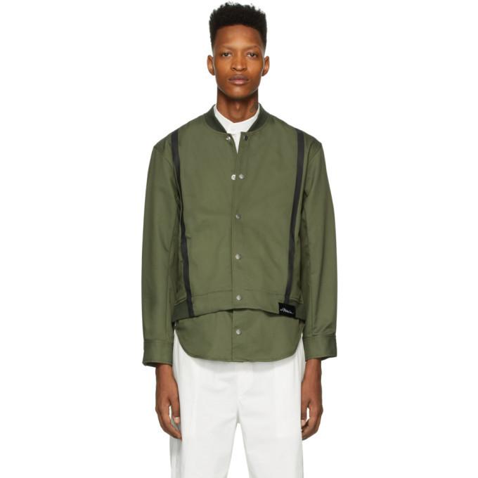 Photo: 3.1 Phillip Lim Green Shirttail Bomber Jacket