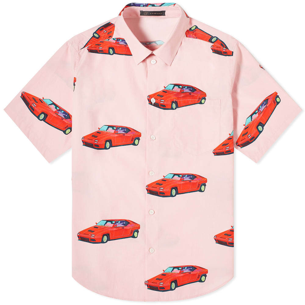 Photo: Versace x Andy Dixon Short Sleeve All Over Print Cars Shirt