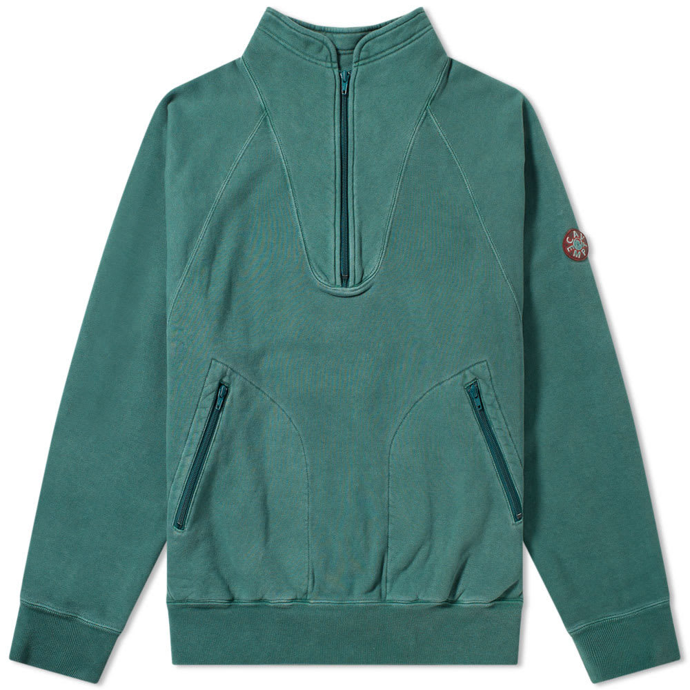 Photo: Cav Empt Half Zip Sweat Green