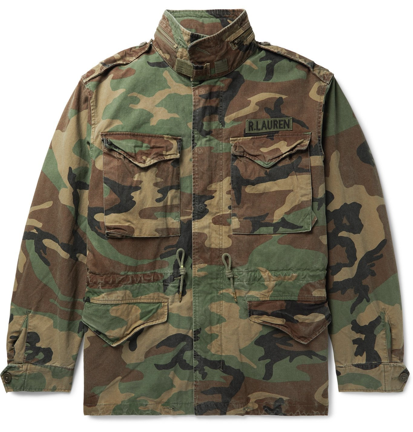 Photo: Polo Ralph Lauren - Layered Camouflage-Print Cotton and Quilted Ripstop Jacket - Green