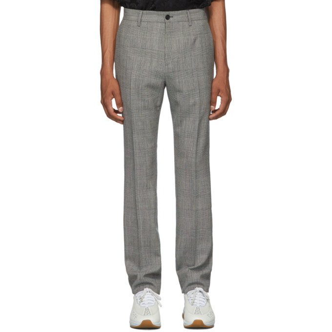 Versace Black and White Formal Trousers