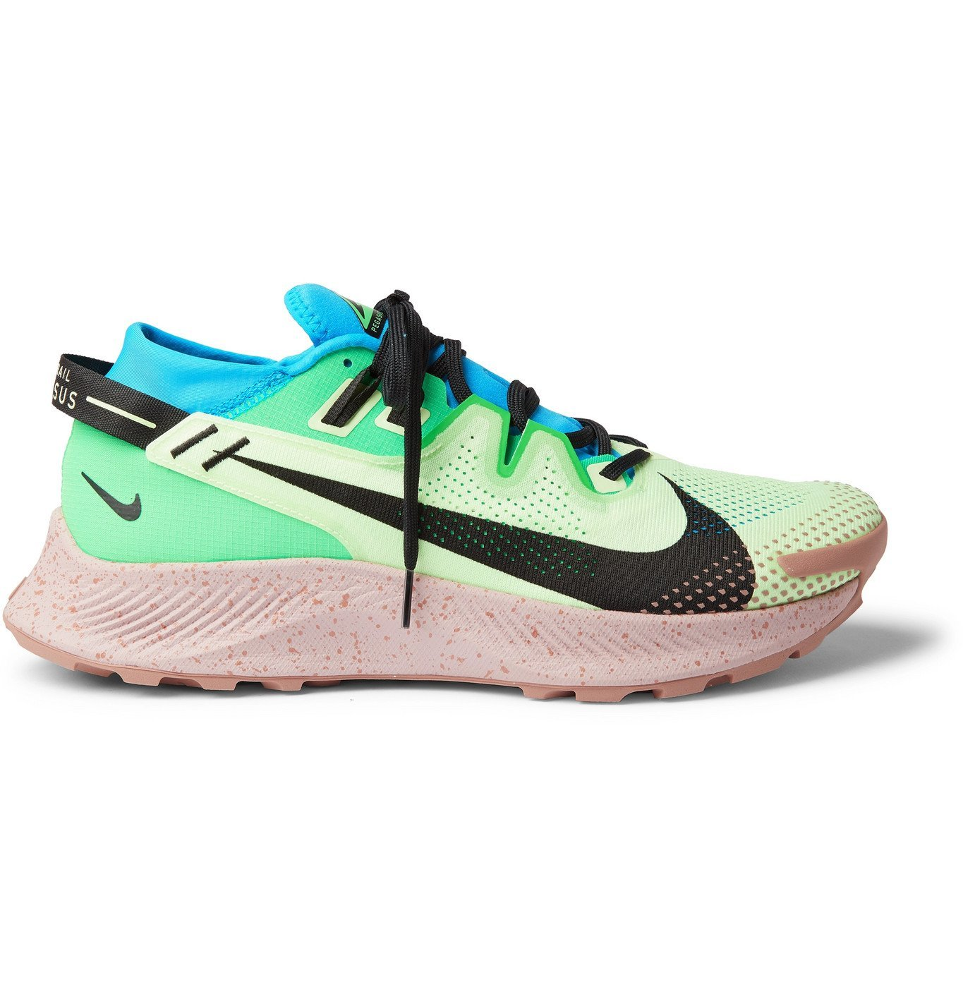 Nike Running - Pegasus Trail 2 Mesh, Ripstop and Neoprene Sneakers - Green