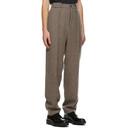Giorgio Armani Brown Shetland Wool Trousers