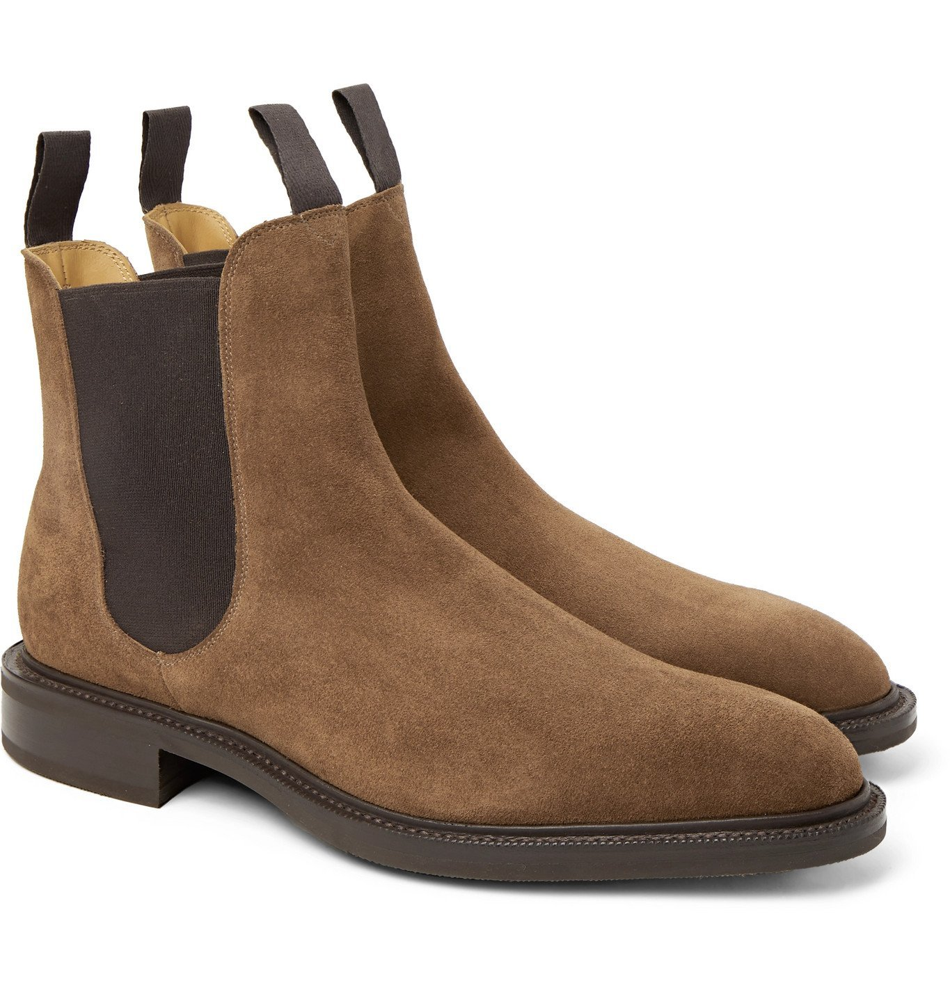 Photo: Edward Green - Newmarket Suede Chelsea Boots - Brown