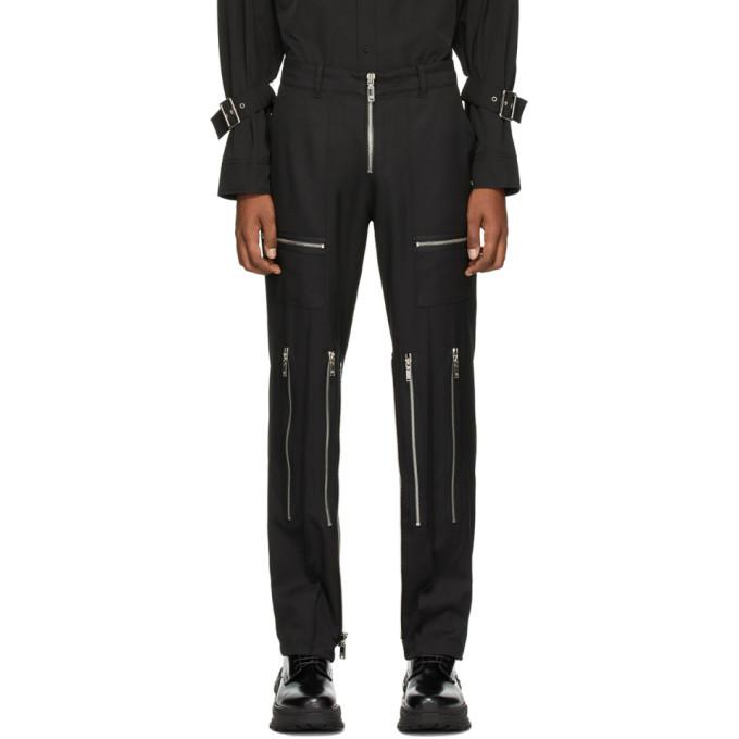 Photo: We11done Black Zipper Trousers