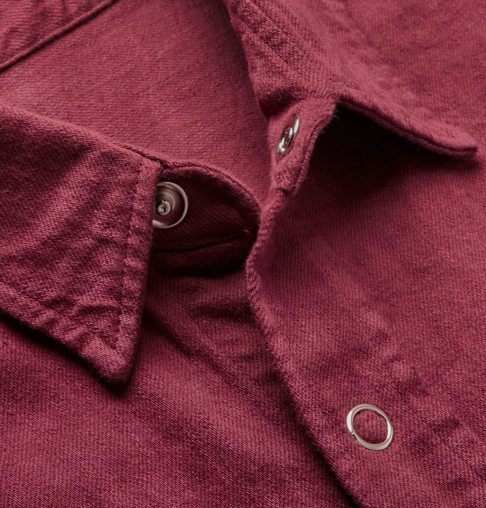 The Elder Statesman - Tie-Dyed Denim Overshirt - Pink