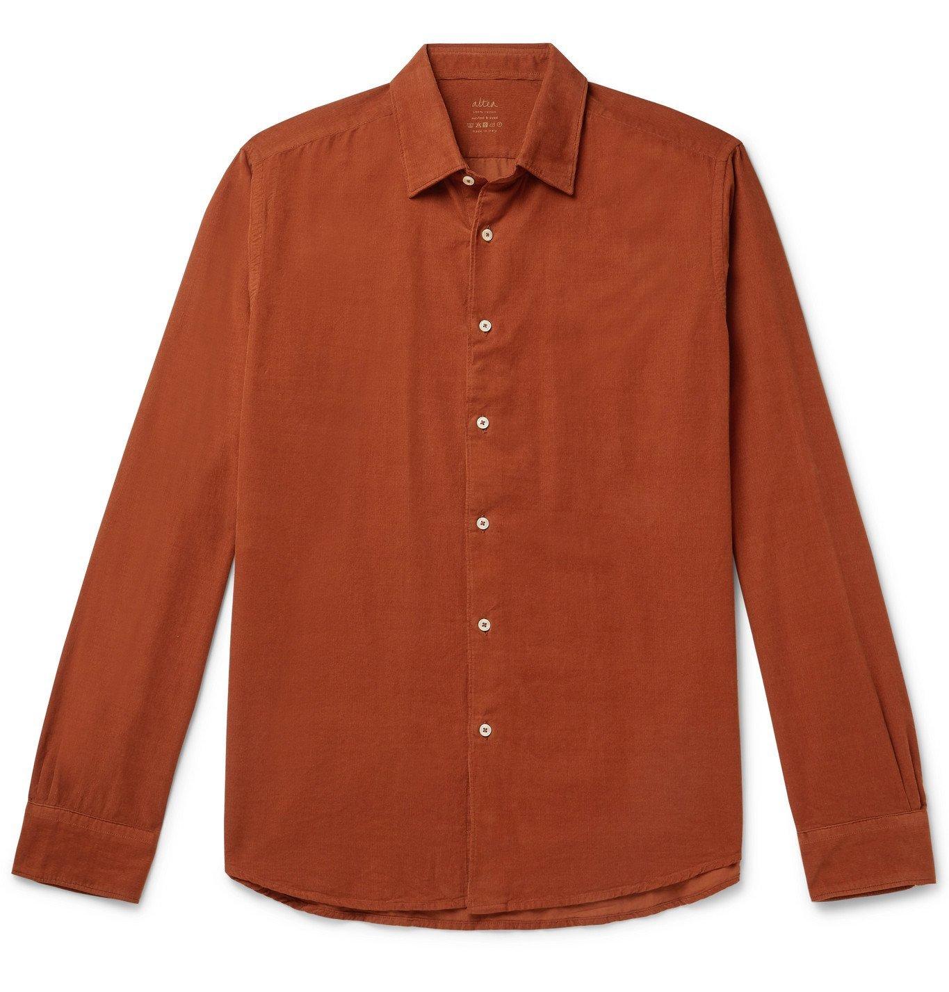 Photo: Altea - Cotton-Corduroy Shirt - Brown