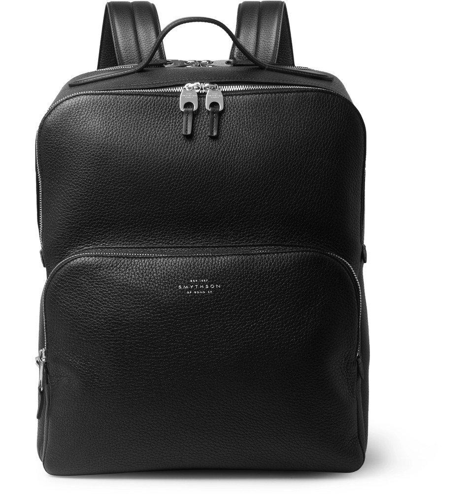 Smythson - Burlington Full-Grain Leather Backpack - Black