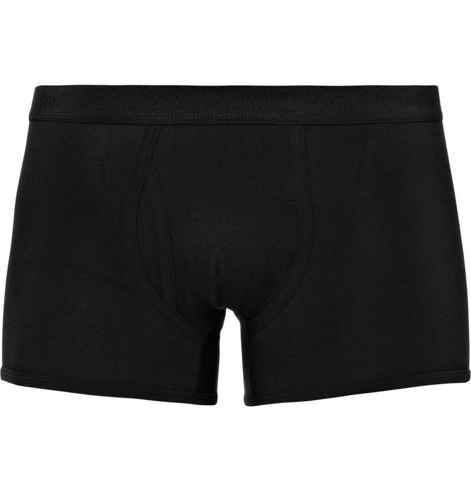 Sunspel - Superfine Cotton-Jersey Boxer Briefs - Men - Black