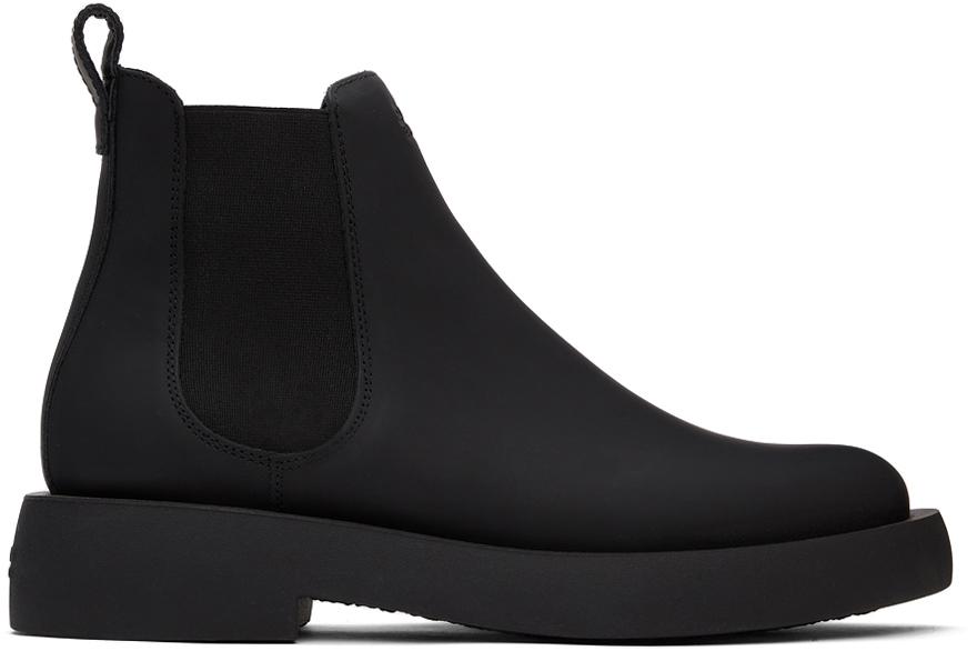 Photo: Clarks Originals Black Leather Mileno Chelsea Boots