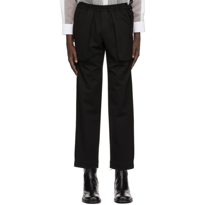 Photo: Situationist SSENSE Exclusive Black Side String Trousers