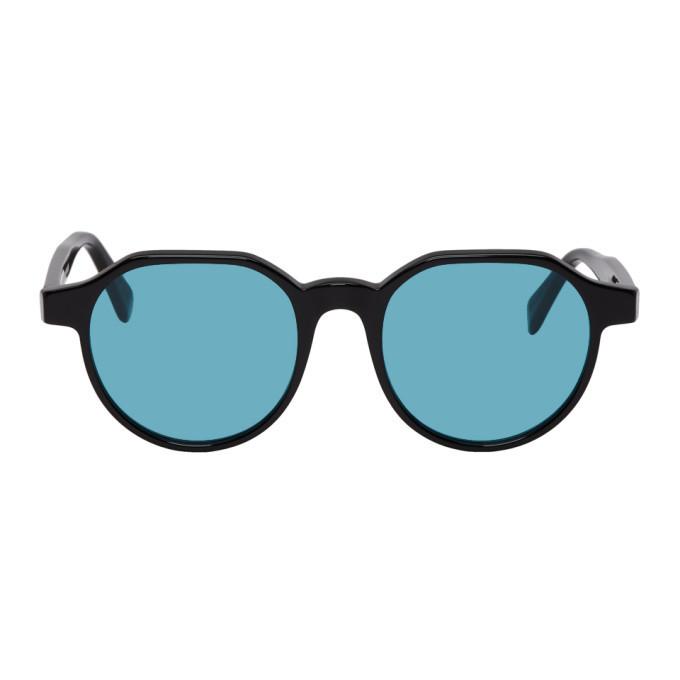 Photo: Super Black and Blue Noto Sunglasses