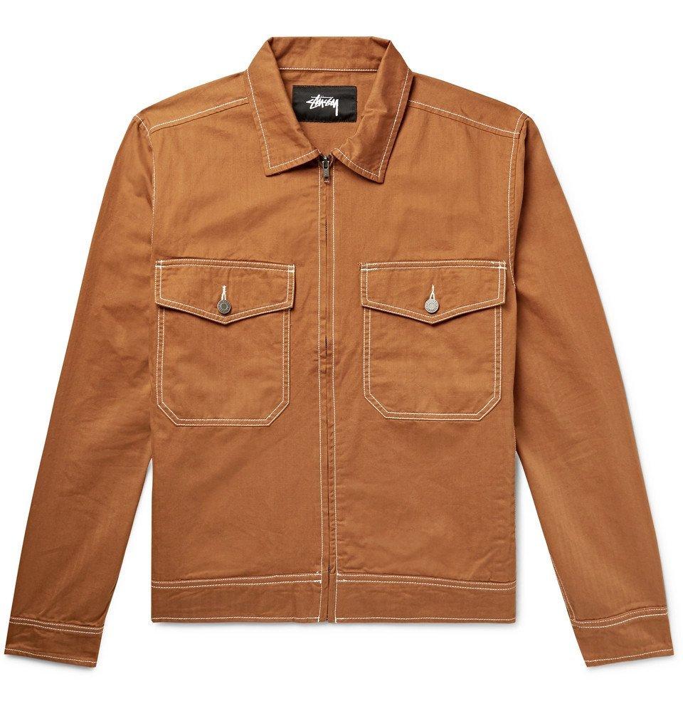 Photo: Stüssy - Herringbone Cotton Jacket - Tan