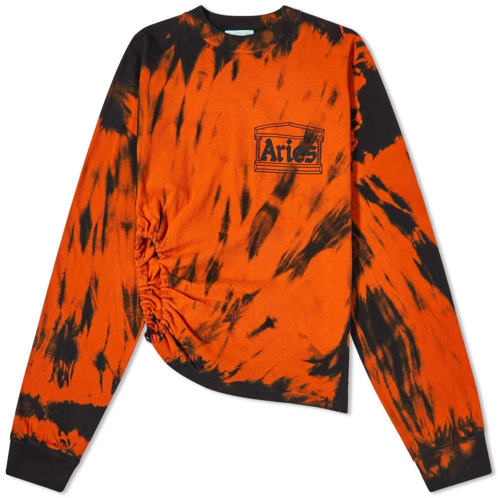 Aries Long Sleeve Tiger Dye Tech Hole Tee