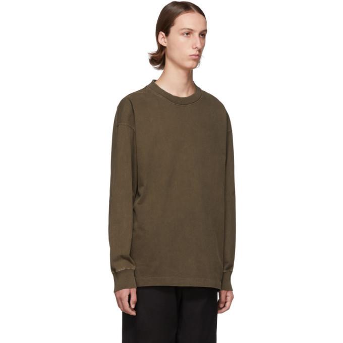 Lemaire Brown Half Raglan Sweatshirt