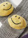 KAPITAL - Ivy Smilie Striped Cotton and Hemp-Blend Socks