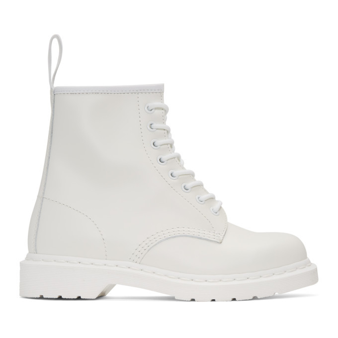 Photo: Dr. Martens White 1460 Mono Boots