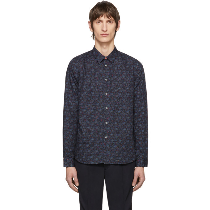Photo: PS by Paul Smith Multicolor Saturn Floral Shirt