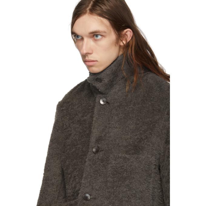 Lemaire Grey Furry Alpaca Jacket