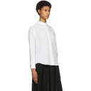 Sacai White Pleated Back Shirt