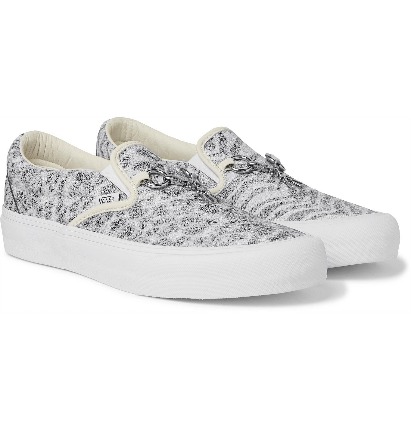 Photo: Vans - Needles Classic VLT LX Animal-Print Faux Leather Slip-On Sneakers - White