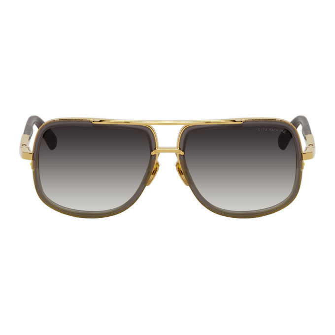 Photo: Dita Grey and Gold Mach-One Sunglasses
