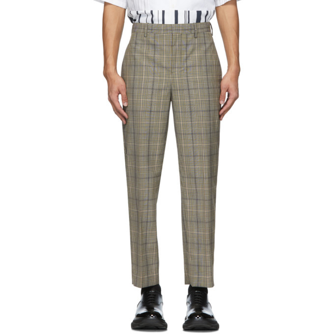Photo: Neil Barrett Beige and Black Check Suiting Trousers