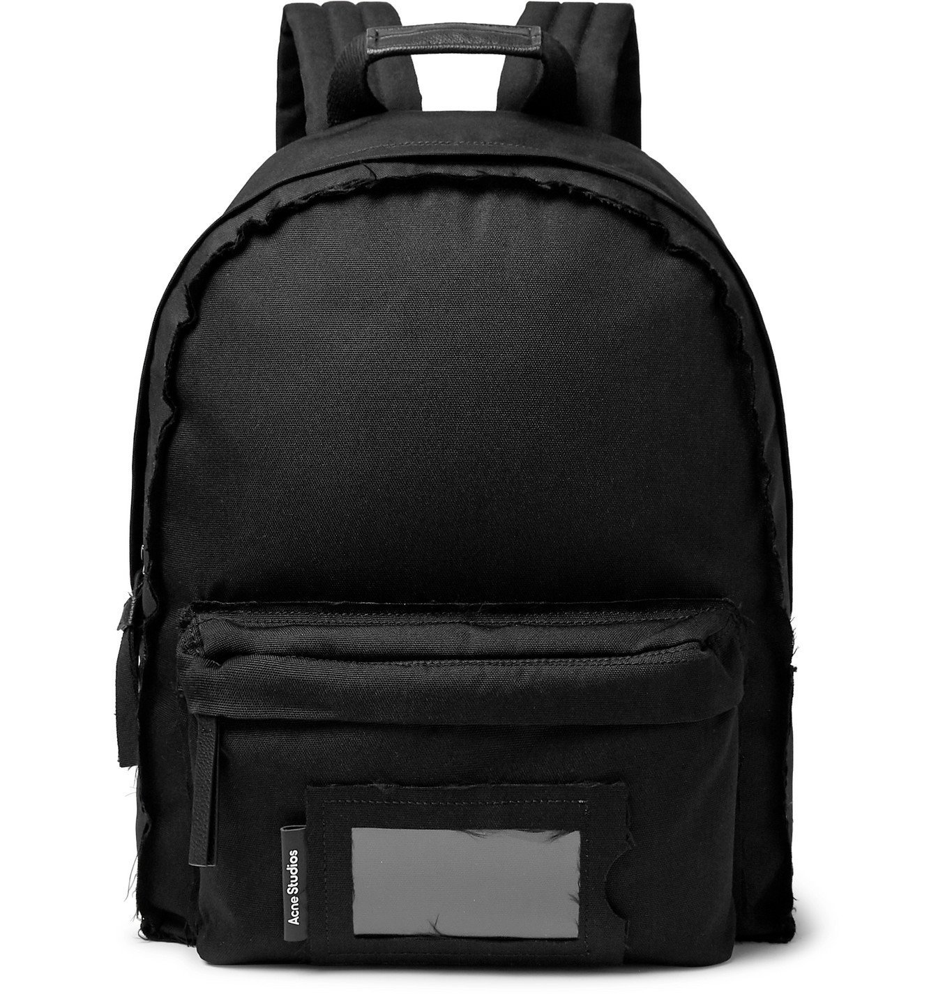 Photo: Acne Studios - Leather-Trimmed Canvas Backpack - Black