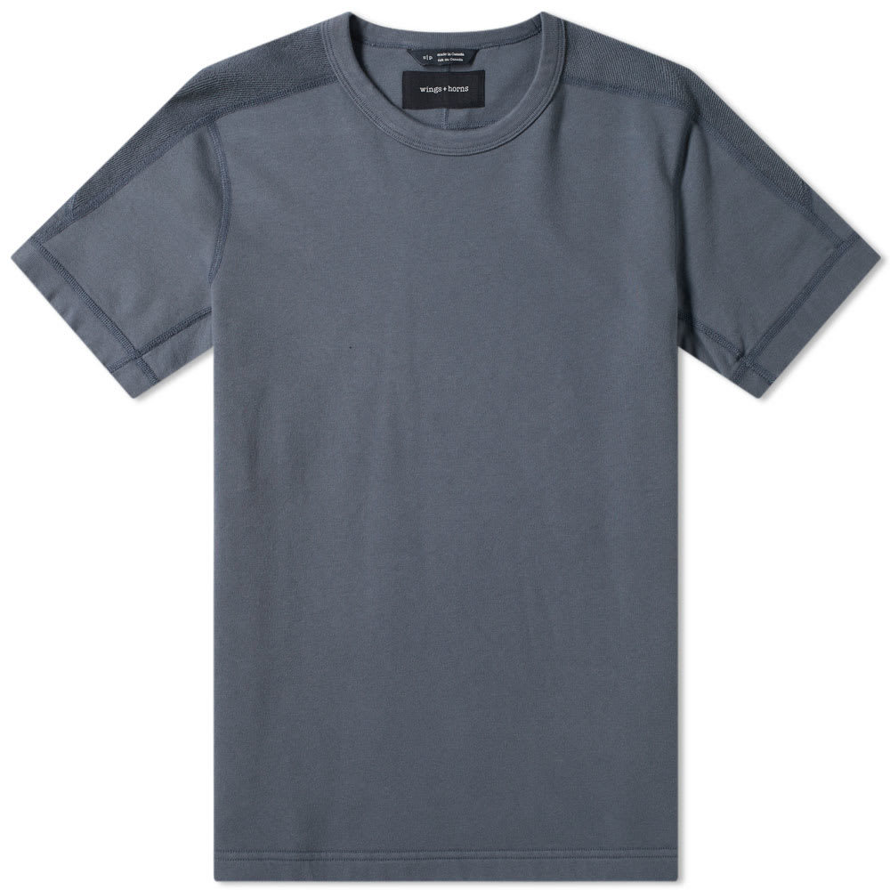 Photo: Wings + Horns Short Sleeve Inverted Crew Sweat