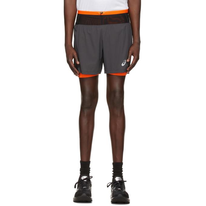 Photo: Asics Grey Fujitrail Shorts