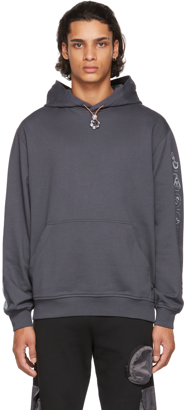 Photo: MCQ Grey Relaxed Storm Cloud Hoodie