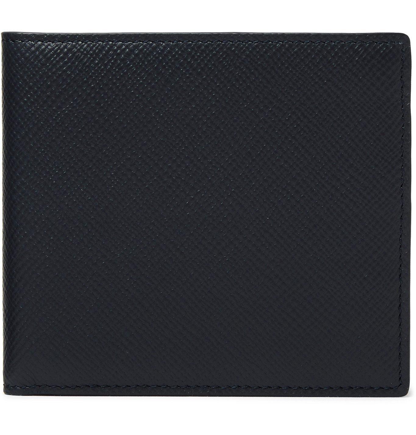Smythson - Cross-Grain Leather Billfold Wallet - Blue