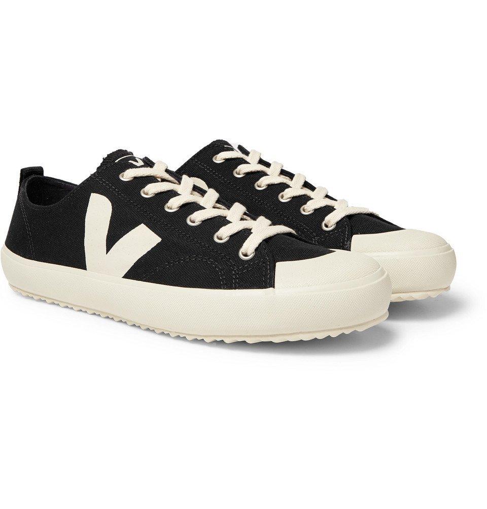 Photo: Veja - Nova Rubber-Trimmed Organic Cotton-Canvas Sneakers - Black