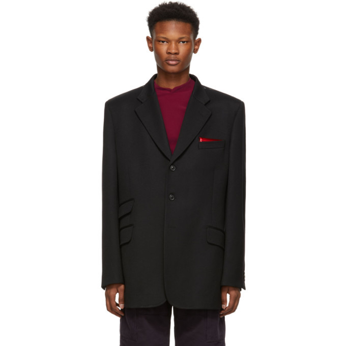Photo: Maison Margiela Black Wool Oversized Blazer