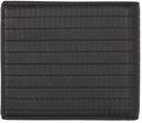 Giorgio Armani Black Plonge Leather Embossed Bifold Wallet