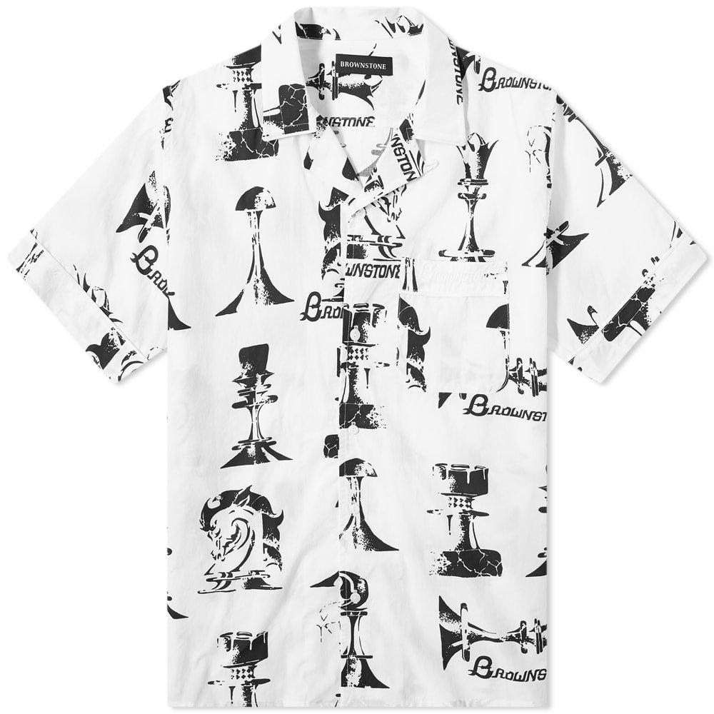 Brownstone Chess Piece Club Collar Shirt