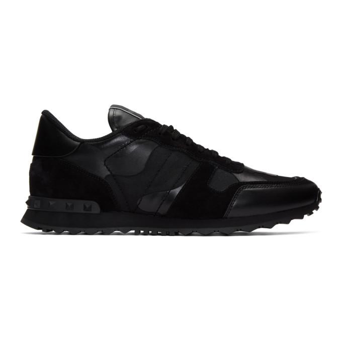 Photo: Valentino Black Valentino Garavani Camo Rockrunner Sneakers