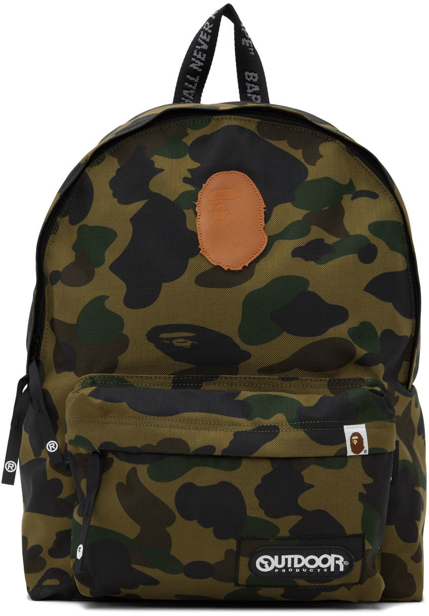 Photo: BAPE Green Outdoor Products Edition 1st Camo Day Backpack